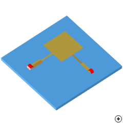 Image of the Dual microstrip-edge-fed circularly polarized rectangular patch