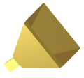 Corrugated pyramidal horn antenna