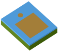 Rectangular patch with capacitive-coupled feed
