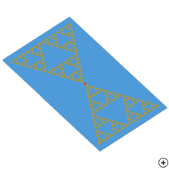 Image of the Sierpinski gasket antenna.