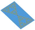 Sierpinski bowtie antenna