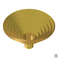 Image of the Waveguide-fed scalar corrugated conical horn.