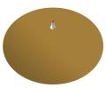 Horn-fed parabolic reflector