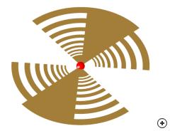 Image of the 2-Arm planar log-periodic antenna.