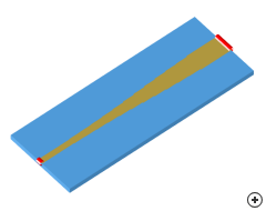 Image of the Stepped microstrip transition.