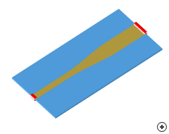 Image of the Continuously tapered microstrip transition