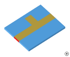 Image of the Microstrip stub matching transition