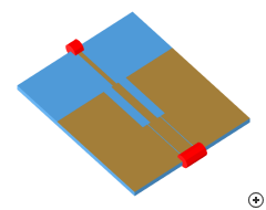 Image of the Microstrip to CPW transition