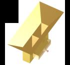 Short dual-waveguide-fed pyramidal horn