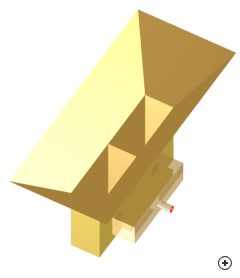 Image of the Short dual-waveguide-fed pyramidal horn