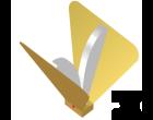 Dual-ridged pyramidal horn (no sidewalls)