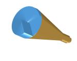 Spiral phase plate (SPP) Potter horn