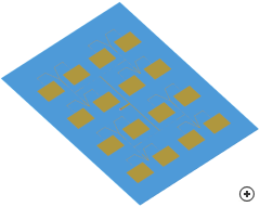 Image of the M-by-N rectangular patch array