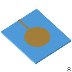 Image of the Microstrip-fed Elliptical Monopole