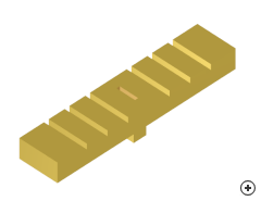 Image of the Low-profile rectangular corrugated feeder antenna