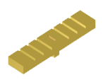 Low-profile rectangular corrugated feeder antenna