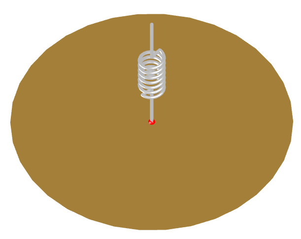 Inductively-loaded wire monopole antenna