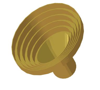 Elliptical axial-choke horn antenna