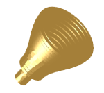 Profiled corrugated conical horn