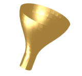 Profiled smooth conical horn
