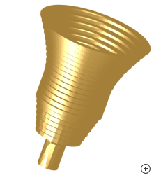 Image of the Gaussian-profiled corrugated conical horn
