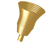 Gaussian-profiled corrugated conical horn