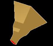 Piecewise linear (PWL) spline-profiled pyramidal horn