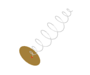 Axial-mode wire helix with linearly tapered ends