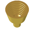 Waveguide-fed corrugated conical horn