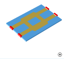 Image of the Quad hybrid microstrip coupler
