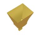 Waveguide-fed Smooth Spline Profiled Pyramidal Horn