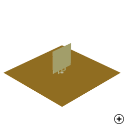 Image of the Rectangular Monopole with Trident Shaped Feed