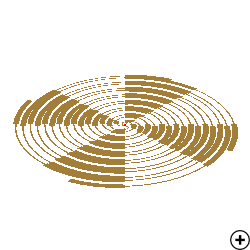 Image of the Self-complimentary MAW 4-arm Archimedes spiral antenna
