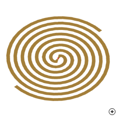 Image of the Self-complimentary Archimedean Spiral