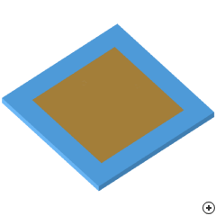 Image of the Rectangular dual-pin-fed circularly polarized patch