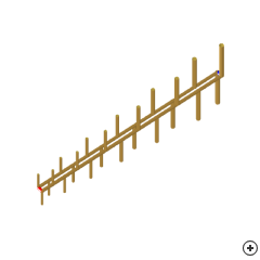 Image of the Log-periodic dipole array (LPDA)