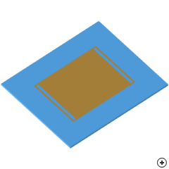 Image of the Dualband slot-loaded pin-fed linearly polarized rectangular patch