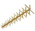 Orthogonal LPDA antenna