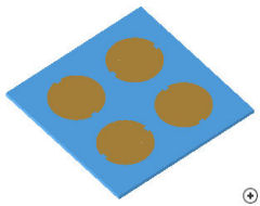 Image of the Sequentially rotated 2x2 circular patch array