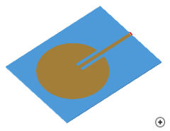 Image of the Circular inset-fed linear polarized patch.