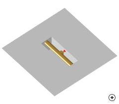 Image of the Cavity backed T-bar-fed slot antenna.