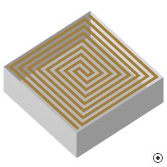 Image of the Cavity backed rectangular spiral antenna.