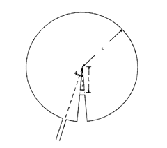 Top diagram view of the Pacman antenna.
