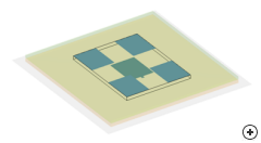 Transparent view of the Stacked patch array model.