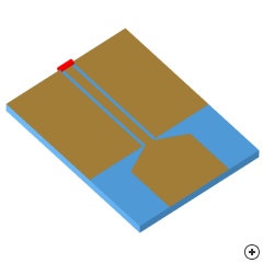 Image of the Trapezoidal CPW-fed monopole.