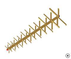 Image of the Orthogonal LPDA antenna