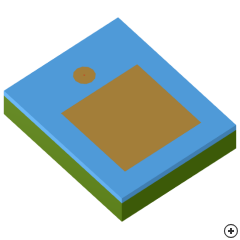 Image of the Rectangular Capacitive-disc-fed Patch
