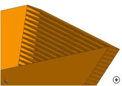 Waveguide-fed pyramidal corrugated&nbsp;</em>horn simulation model.