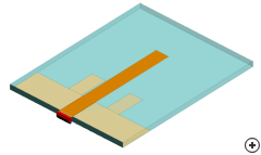 Image of the Planar sleeve monopole with transparency