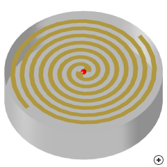 Image of the Cavity backed Archimedes spiral.